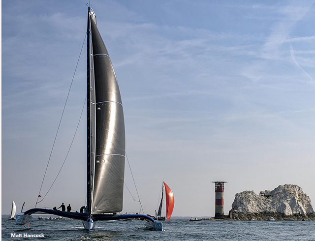 Chasing and photographing the competitors during the Panerai British Classic's Regatta